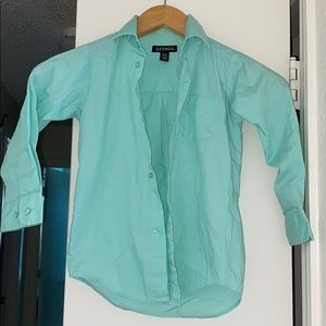 Aqua Button Down